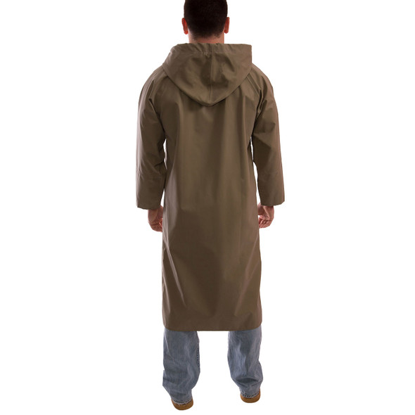 Tingley ASTM D6413 Industrial Olive Drab Magnaprene Chem Splash Coat C12148 Back