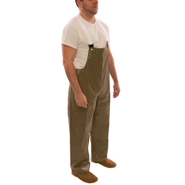 Tingley ASTM D6413 Industrial Olive Drab Magnaprene Chem Splash Overalls O12008 Side