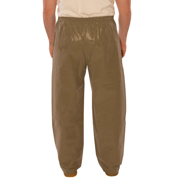 Tingley ASTM D6413 Industrial Olive Drab Magnaprene Chem Splash Pants P12008 Back