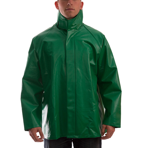 Tingley ASTM D6413 SafetyFlex Green Chem Splash Jacket J41008 Front