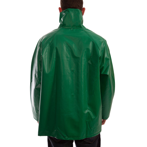 Tingley ASTM D6413 SafetyFlex Green Chem Splash Jacket J41008 Back