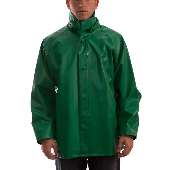 Tingley ASTM D6413 SafetyFlex Green Chem Splash Jacket J41248 Front