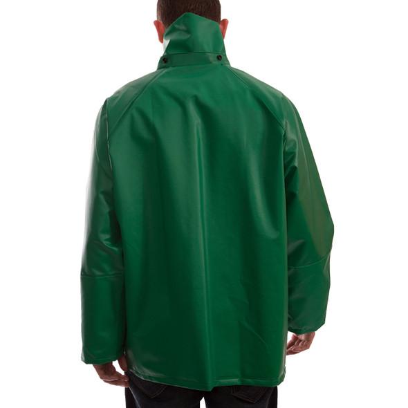 Tingley ASTM D6413 SafetyFlex Green Chem Splash Jacket J41248 Back