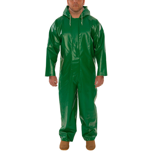 Tingley ASTM D6413 SafetyFlex Green Chem Splash Coveralls V41108 Front