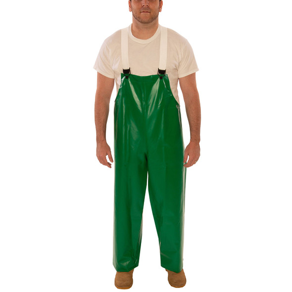 Tingley ASTM D6413 SafetyFlex Green Chem Splash Overalls O41008 Front