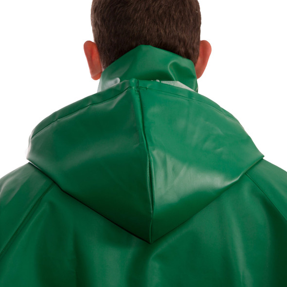 Tingley ASTM D6413 SafetyFlex Green Chem Splash Hood H41108 Back