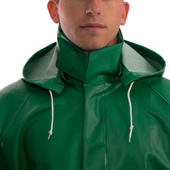 Tingley ASTM D6413 SafetyFlex Green Chem Splash Hood H41108 Front