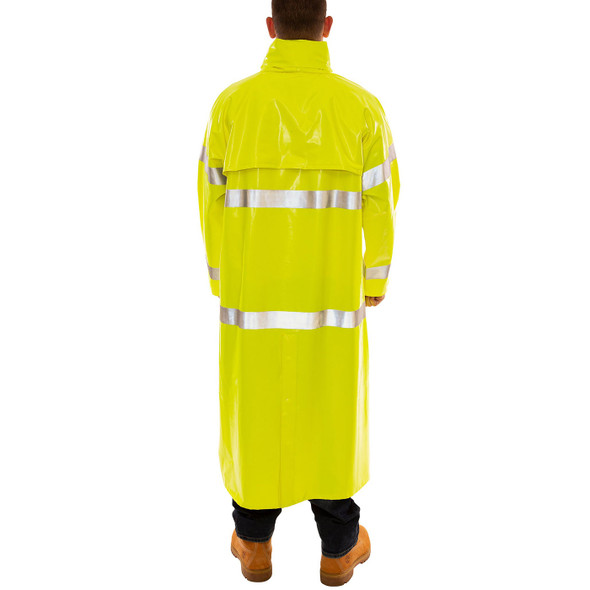 Tingley Class 3 Hi Vis Yellow Comfort-Brite Raincoat C53122 Back