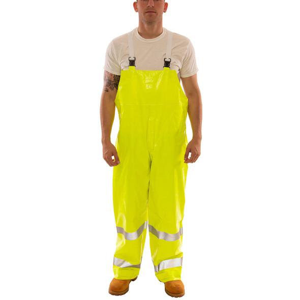 Tingley Class E Hi Vis Yellow Comfort-Brite Rain Overalls O53122 Front
