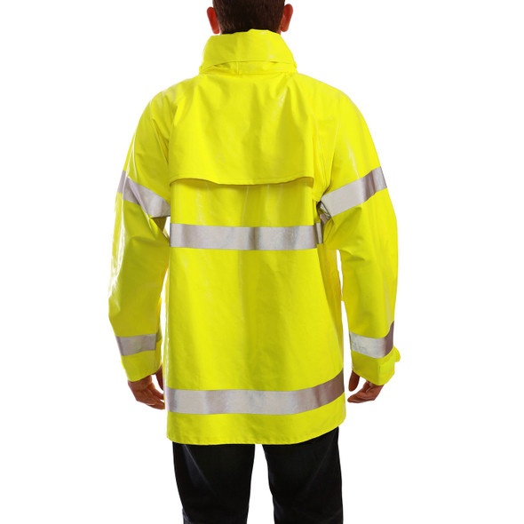 Tingley Class 3 Hi Vis Yellow Comfort-Brite Rain Jacket J53122 Back