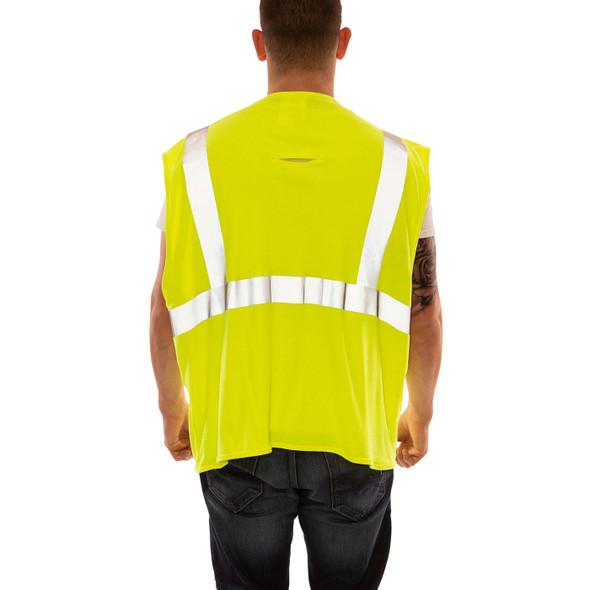 Tingley FR Class 2 Hi Vis Yellow Job Sight Safety Vest V81622 Back