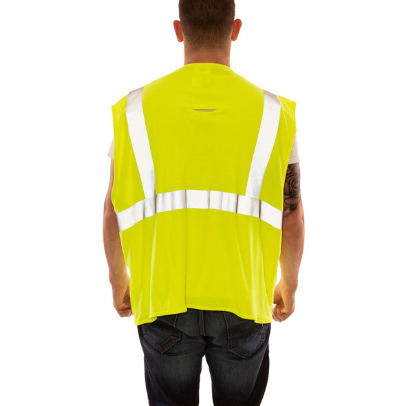 Tingley FR Class 2 Hi Vis Yellow Job Sight Safety Vest V81622 Back