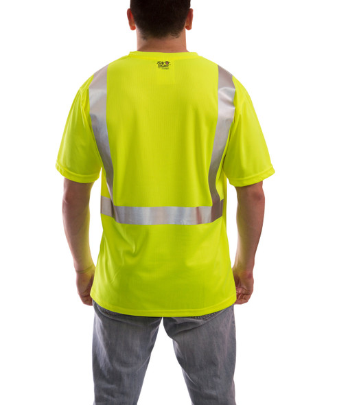 Tingley Class 2 Yellow Moisture Wicking Job Sight T-Shirt with Pocket S75022 Back