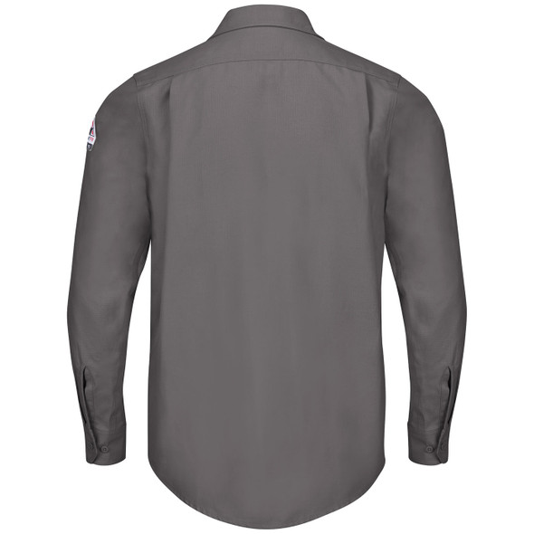 Bulwark FR iQ Endurance Work Shirt QS40 Gray Back