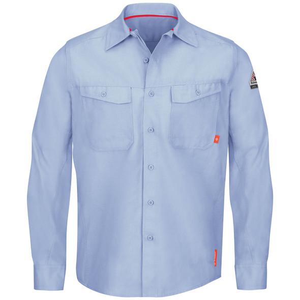 Bulwark FR iQ Endurance Work Shirt QS40 Light Blue Front
