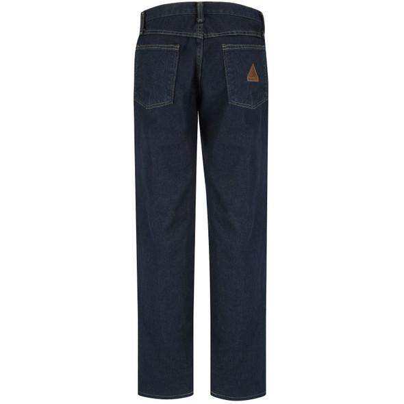 Bulwark Womens FR Straight Fit Sanded Denim Jeans PEJWSD Back