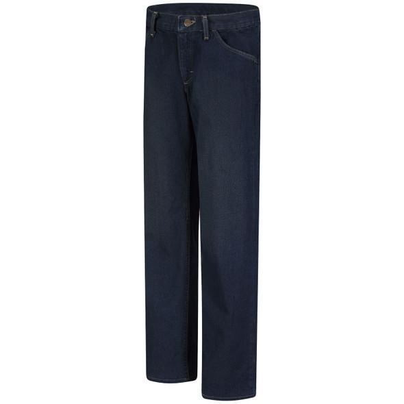 Bulwark Womens FR Straight Fit Sanded Denim Jeans PEJWSD Front