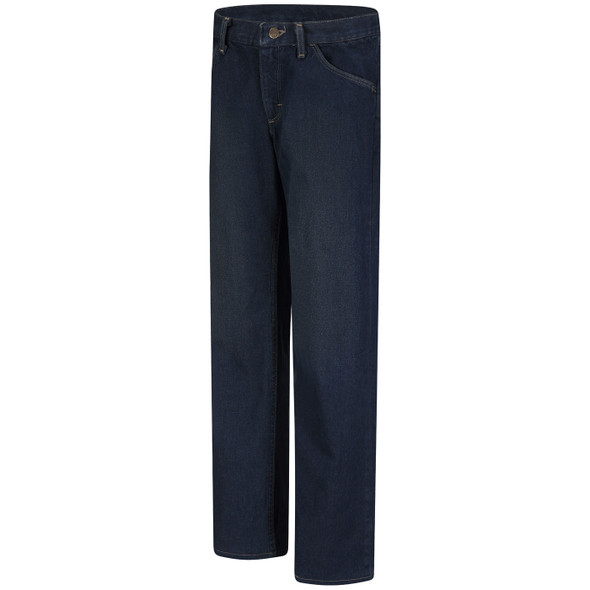 Bulwark Womens FR Straight Fit Sanded Denim Jeans PEJWSD Front