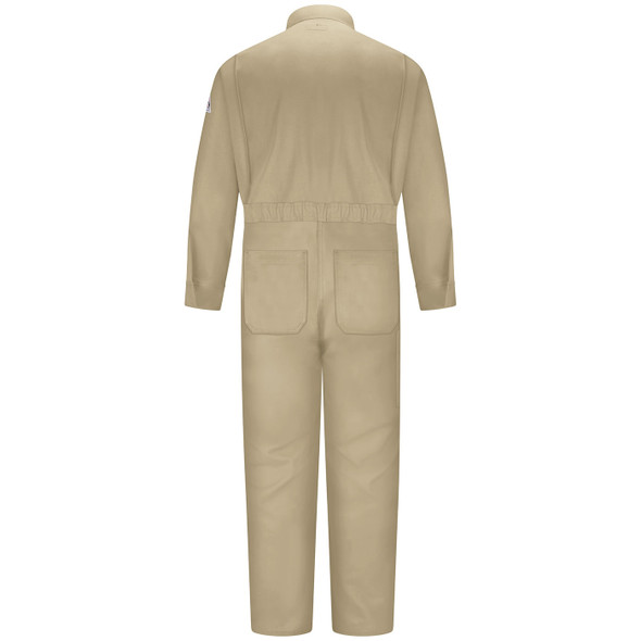 Bulwark Womens FR Excel ComforTouch Premium Coveralls CLB3 Khaki Back