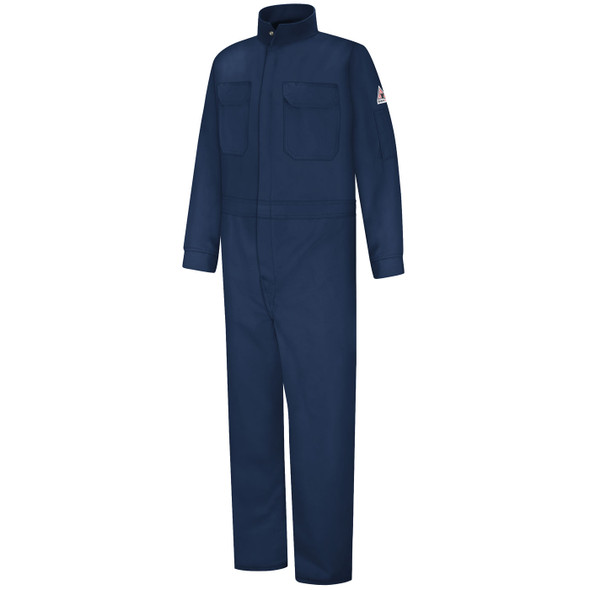 Bulwark Womens FR Excel ComforTouch Premium Coveralls CLB3 Navy Front