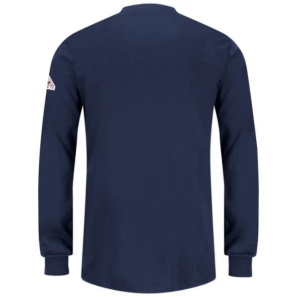 Bulwark Womens FR Excel Long Sleeve Henley Shirt SEL3NV Back