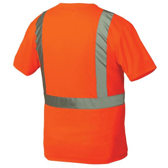 Pyramex Class 2 Hi Vis Orange T-Shirt RTS2120 Back