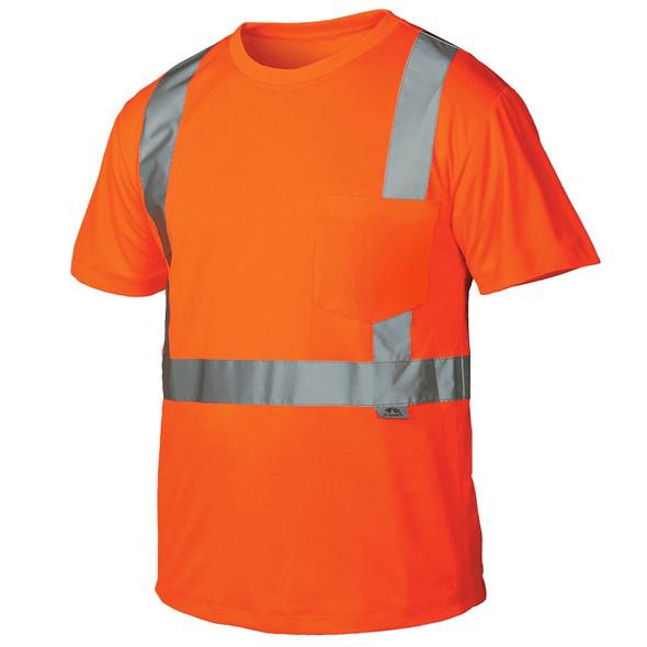 Pyramex Class 2 Hi Vis Orange T-Shirt RTS2120 Front