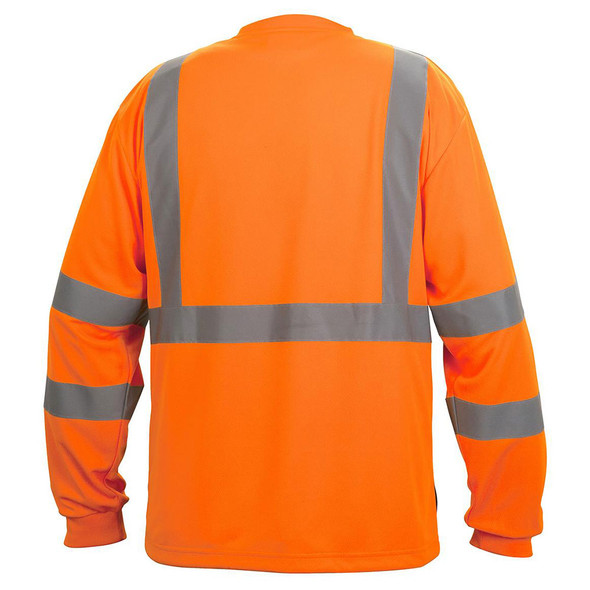 Pyramex Class 3 Hi Vis Orange Black Bottom Moisture Wicking T-Shirt RLTS3120B Back