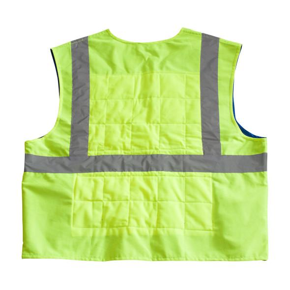 PIP ANSI Hi Vis Class 2 Yellow Cooling Vest 390-EZ202 Back