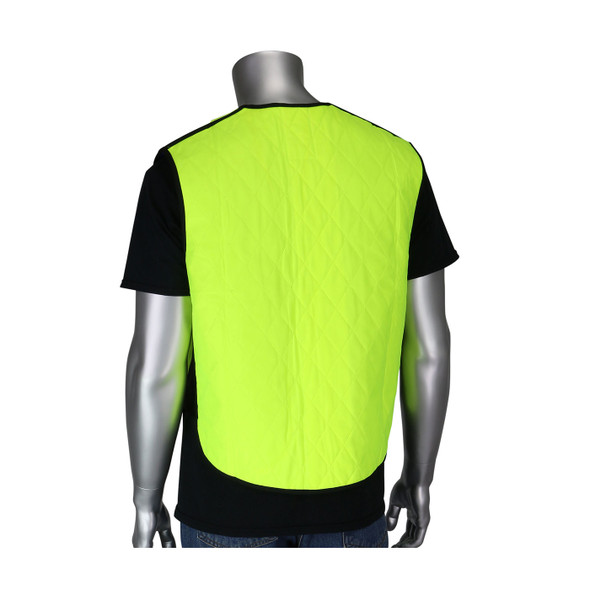 PIP Non-ANSI Hi Vis Yellow Evaporative Cooling Vest 390-EZ100 Back