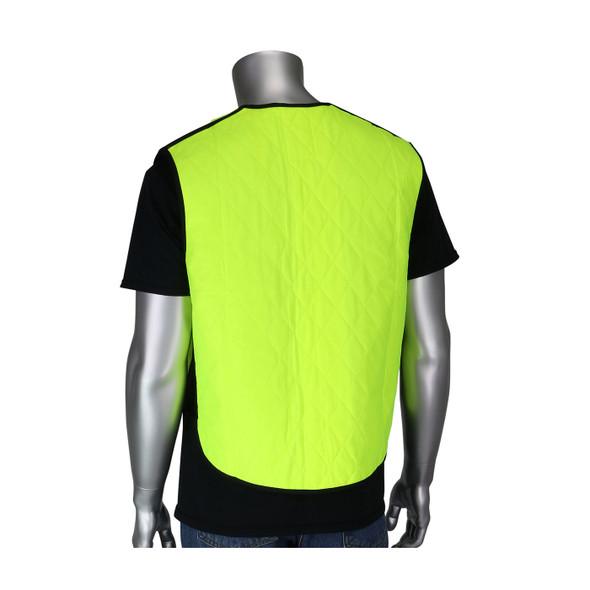 PIP Non-ANSI Hi Vis Yellow Evaporative Cooling Vest 390-EZ100 Back