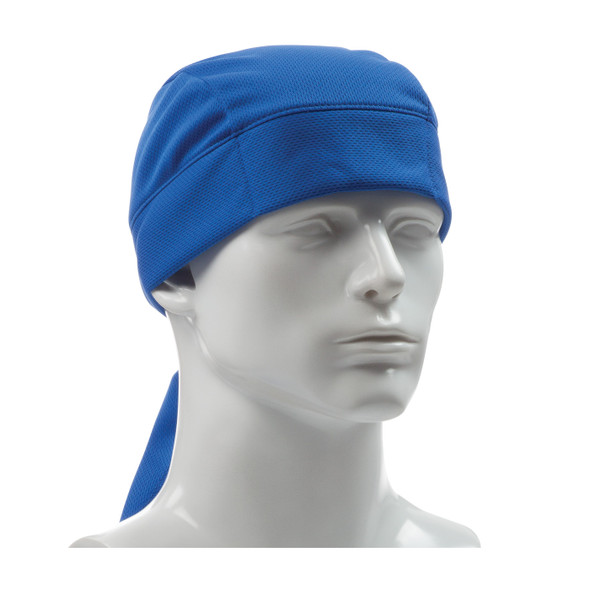 PIP EZ-Cool Evaporative Blue Cooling Tie Hat 396-EZ205-BLU In Use