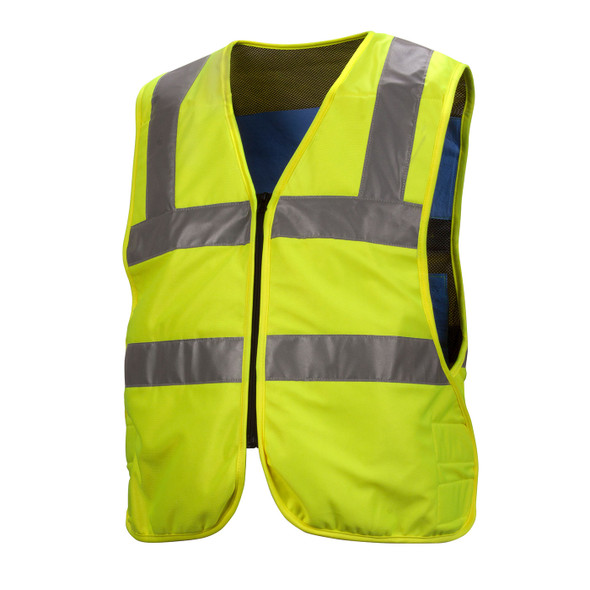 Pyramex Hi Vis Class 2 Yellow Cooling Vest CV200 Front
