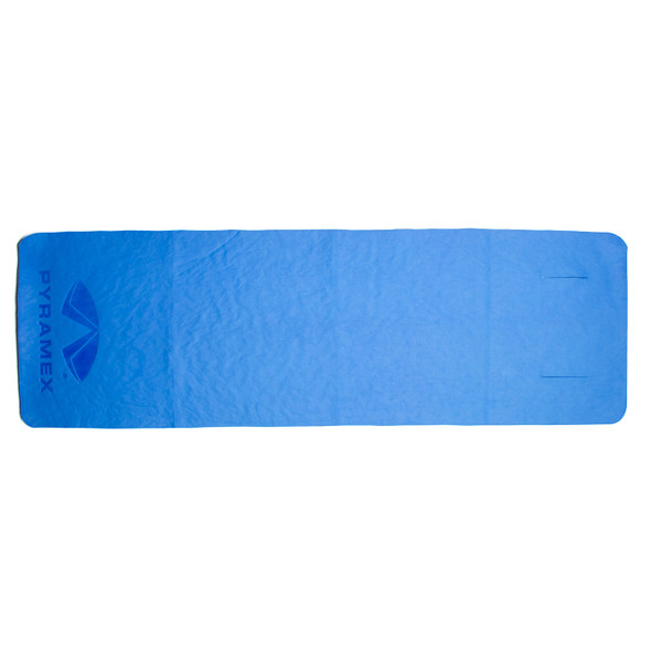Pyramex Case of 100 Blue Cooling Towel Wraps C260-CASE Unwrapped