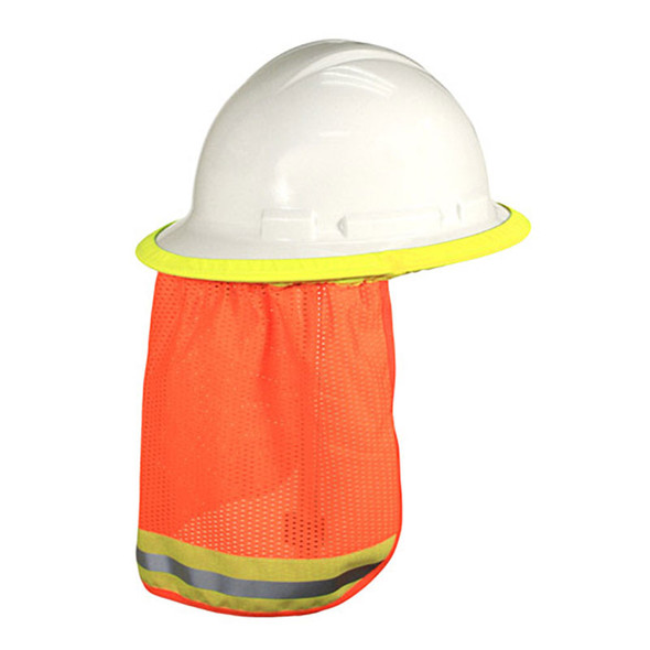 Radians Case of 50 Universal Hi Vis Orange Neck Shades NSO-CASE Full Brim Back