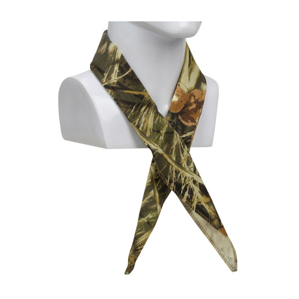 PIP Evaporative Mesh Realtree Max5 Camo Cooling Bandana 393-EZ201-RTC Tied Around the Neck