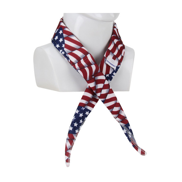 PIP Case of 200 Evaporative Mesh Patriotic Flag Cooling Bandana 393-EZ201-PAT-CASE Tied Around the Neck