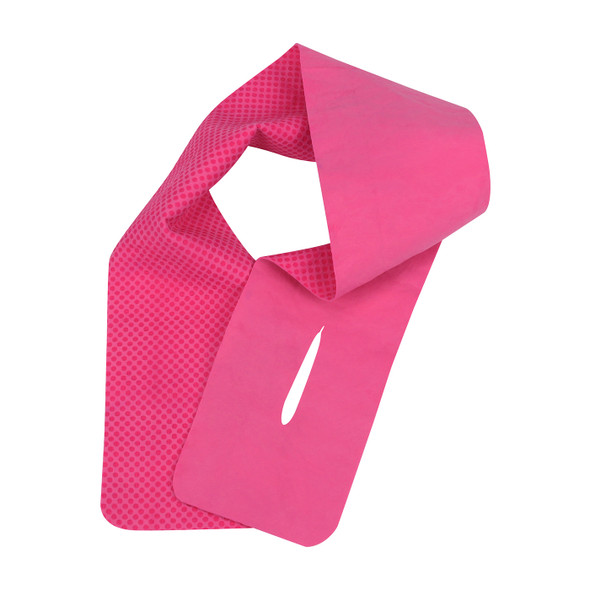 PIP Box of 12 Evaporative Pink Cooling Neck Wraps 393-650-P-DZN Pink Version