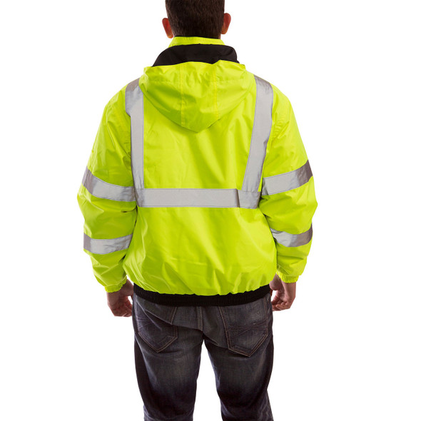 Tingley Class 3 Hi Vis Yellow Black Bottom Bomber II Jacket J26112 Back of Jacket