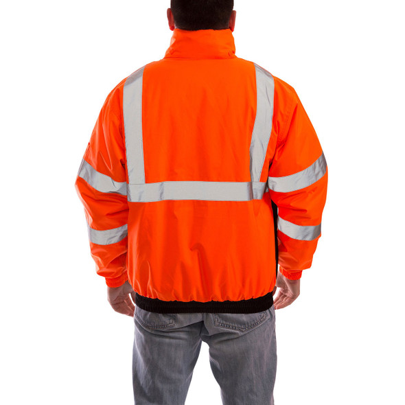 Tingley Class 3 Hi Vis Orange Black Bottom Bomber II Jacket J26119 Back of the Jacket