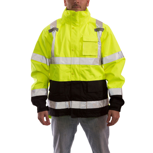 Tingley Class 3 Hi Vis Yellow Black Bottom Icon Jacket J24122 Front