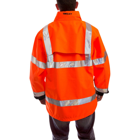 Tingley Class 3 Hi Vis Orange Black Bottom Icon Jacket J24129 Back