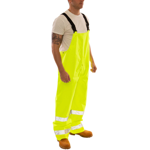 Tingley Class E Hi Vis Yellow Icon Overalls O24122 Side Profile