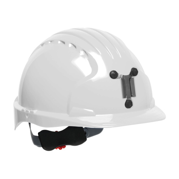PIP Evolution Deluxe 6151 Made in USA Standard Brim Mining Hard Hat 280-EV6151M - Box of 10 White