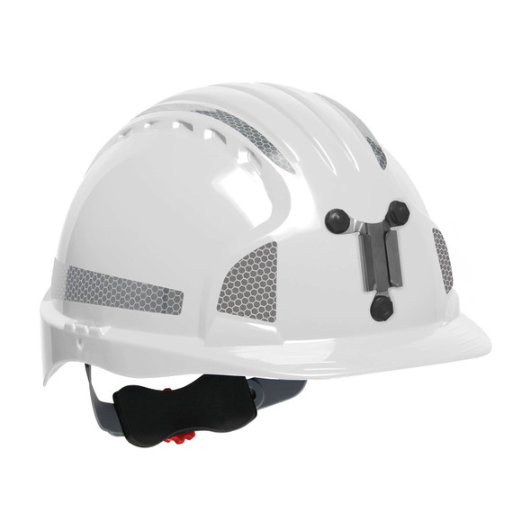PIP Evolution Deluxe 6151 Standard Brim Mining Hard Hat with Reflective Kit 280-EV6151MCR2 White