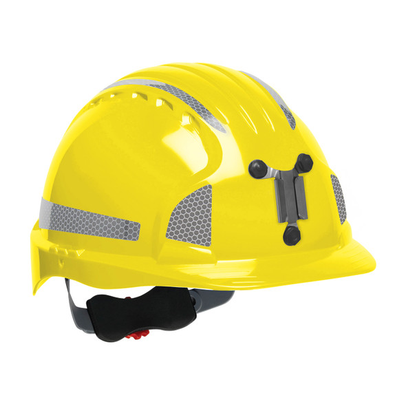 PIP Evolution Deluxe 6151 Made in USA Standard Brim Mining Hard Hat with Reflective Kit 280-EV6151MCR2-10BOX Yellow
