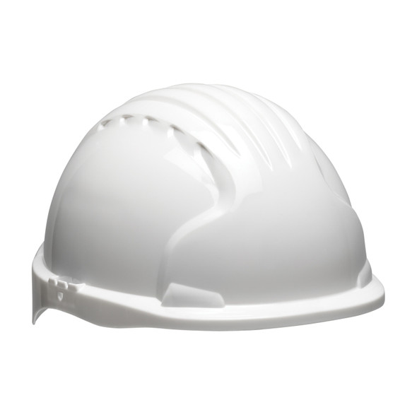 PIP Class E Made in USA Short Brim Hard Hat with 6-PT Ratchet 280-EV6151S - Box of 10 White
