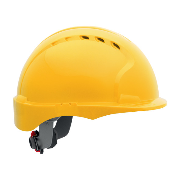 PIP Class C Made in USA Vented Short Brim Hard Hat with 6-PT Ratchet 280-EV6151SV - Box of 10 Yellow