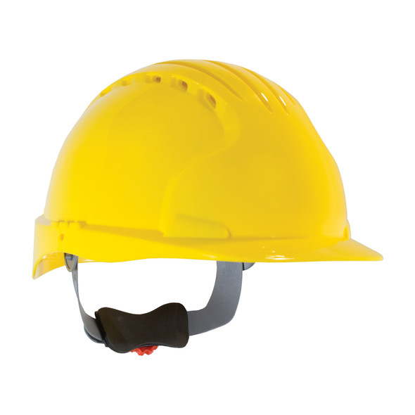 PIP Class C Vented Standard Brim Hard Hat with 6-Point Ratchet Adjustment 280-EV6151V Yellow