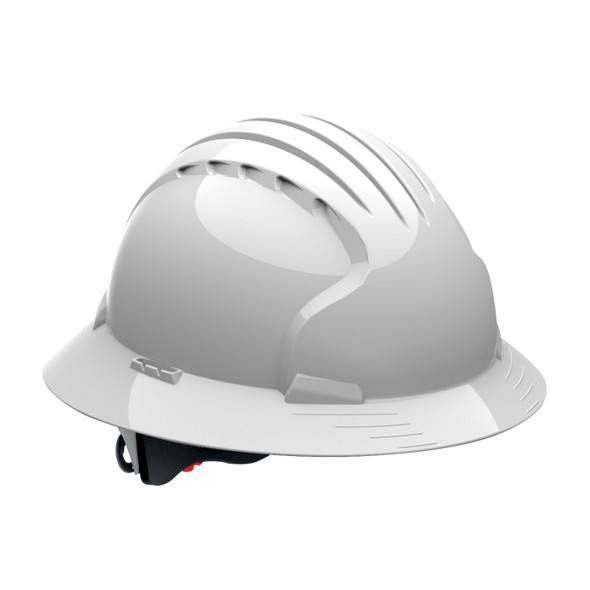 PIP Class E Made in USA Full Brim Hard Hat with 6-Point Ratchet Adjustment 280-EV6161 - Box of 10 White